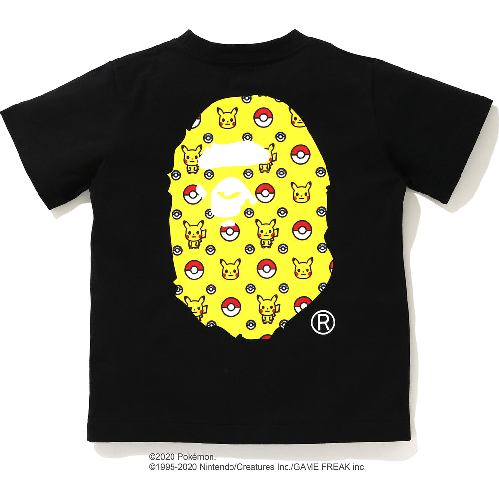 BIG APE HEAD PIKACHU TEE K POKEMON KIDS