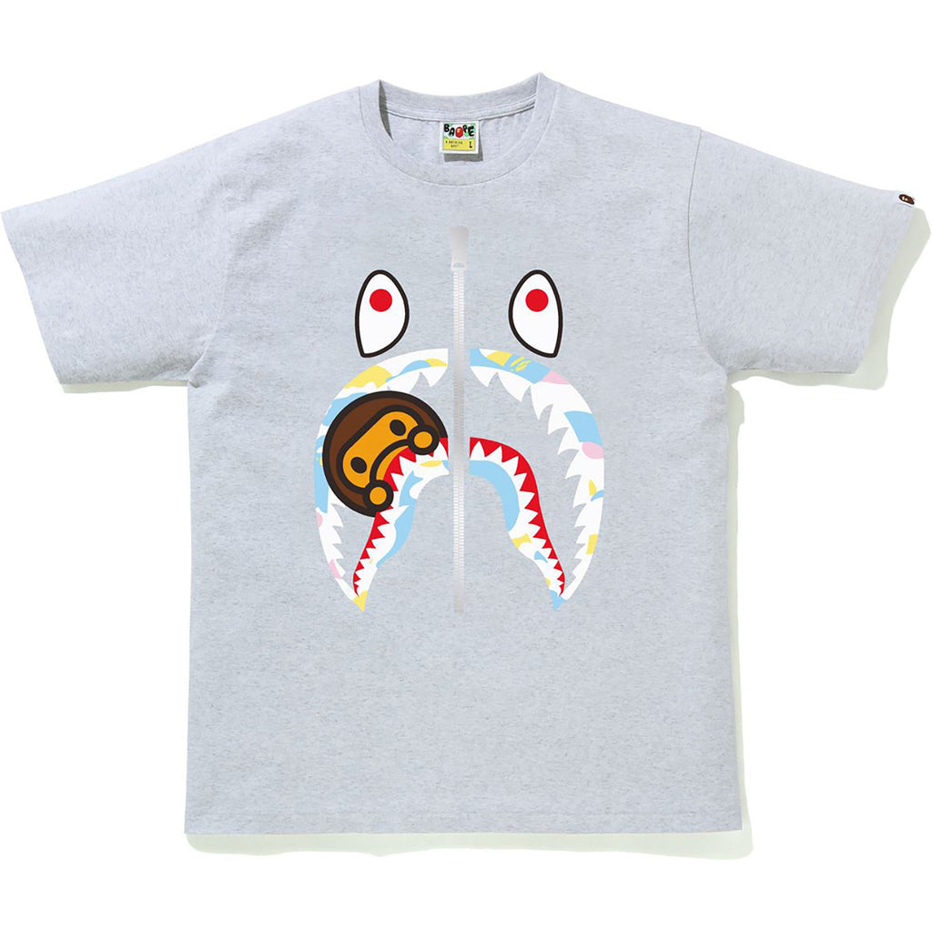 NEW MULTI CAMO MILO SHARK TEE MENS