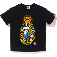 MILO ALL FRIENDS MILO APE HEAD TEE KIDS