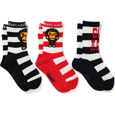 BABY MILO BORDER SOCKS 3P SET KIDS