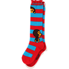 BABY MILO BORDER LONG SOCKS KIDS