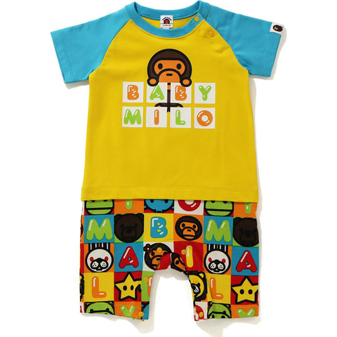MILO FRIENDS BLOCK ROMPERS KB KIDS