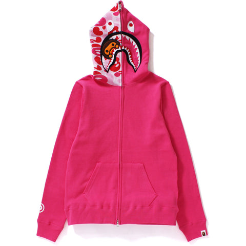 MILO CAMO MILO SHARK FULL ZIP HOODIE /LADIES