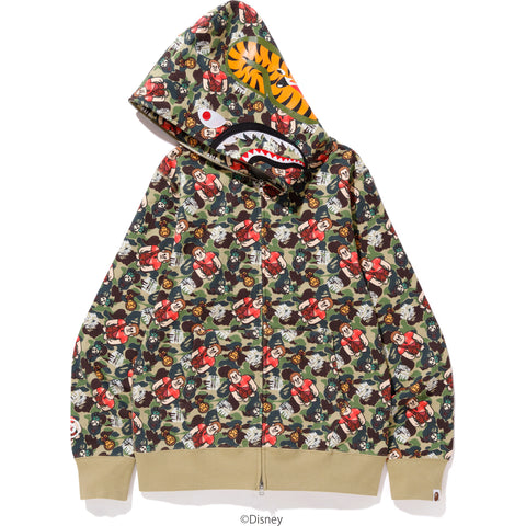 RALPH BREAKS THE INTERNET CAMO SHARK FULL ZIP HOODIE MENS