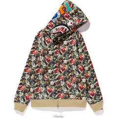 RALPH BREAKS THE INTERNET CAMO SHARK FULL ZIP HOODIE LADIES