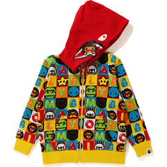 MILO FRIENDS BLOCK MILO SHARK ZIP HOODIE KIDS