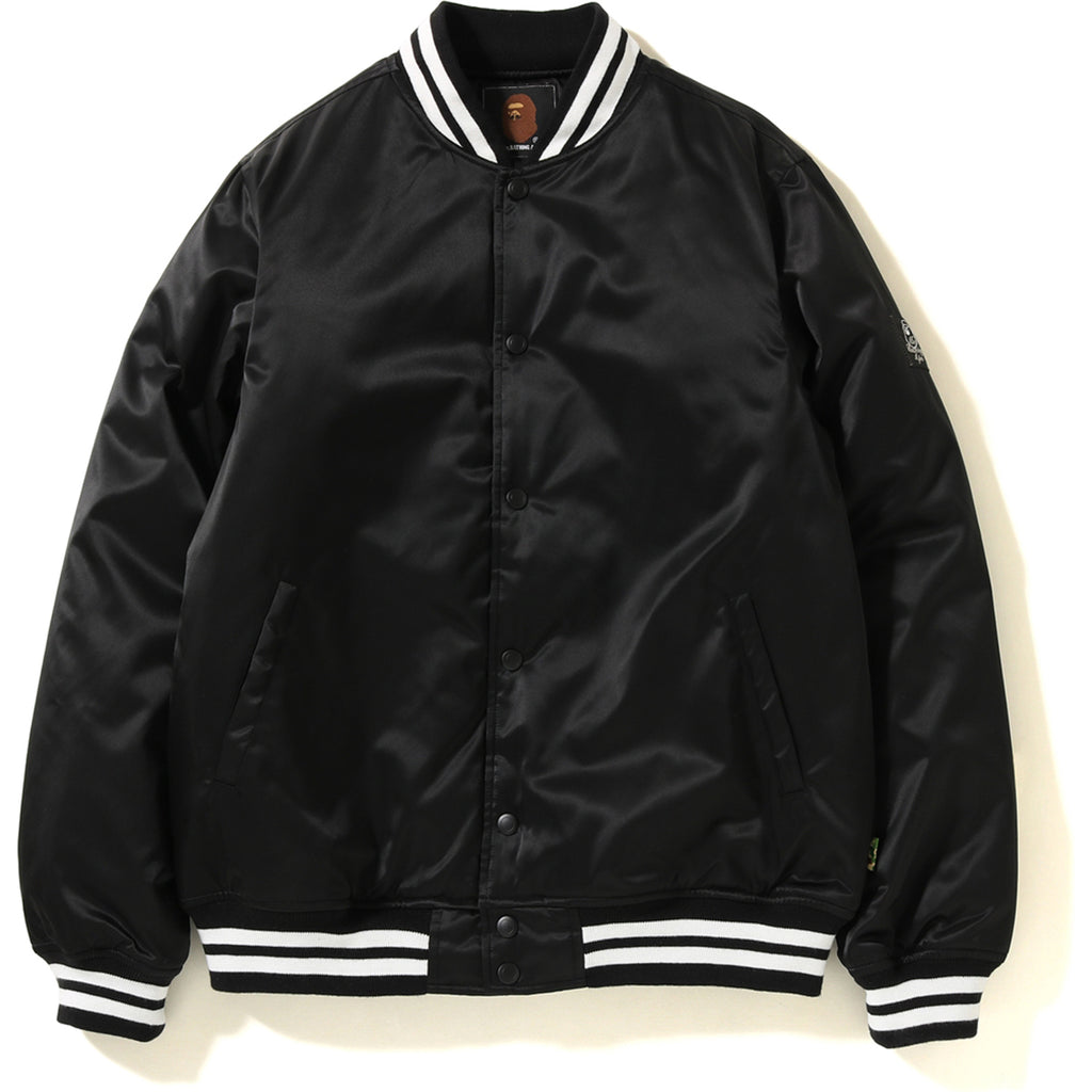 SATIN VARSITY JACKET MENS