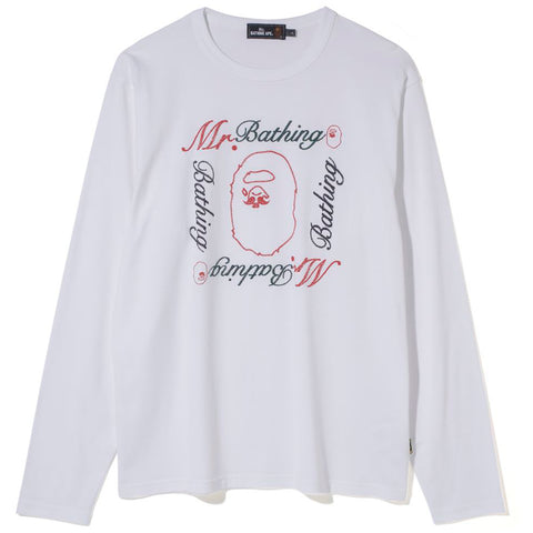 MR BATHING APE L/S TEE MENS