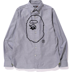 APE HEAD PRINT OXFORD BD SHIRT