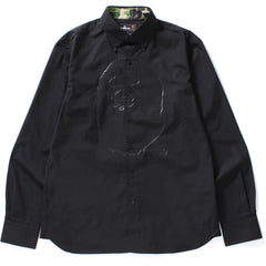 APE HEAD PRINT OXFORD BD SHIRT M