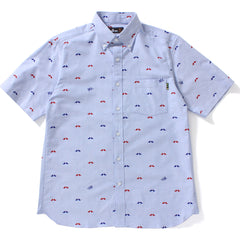 MR PATTERN OXFORD BD S/S SHIRT MENS