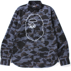 1ST CAMO APE HEAD PRINT BD SHIRT MENS