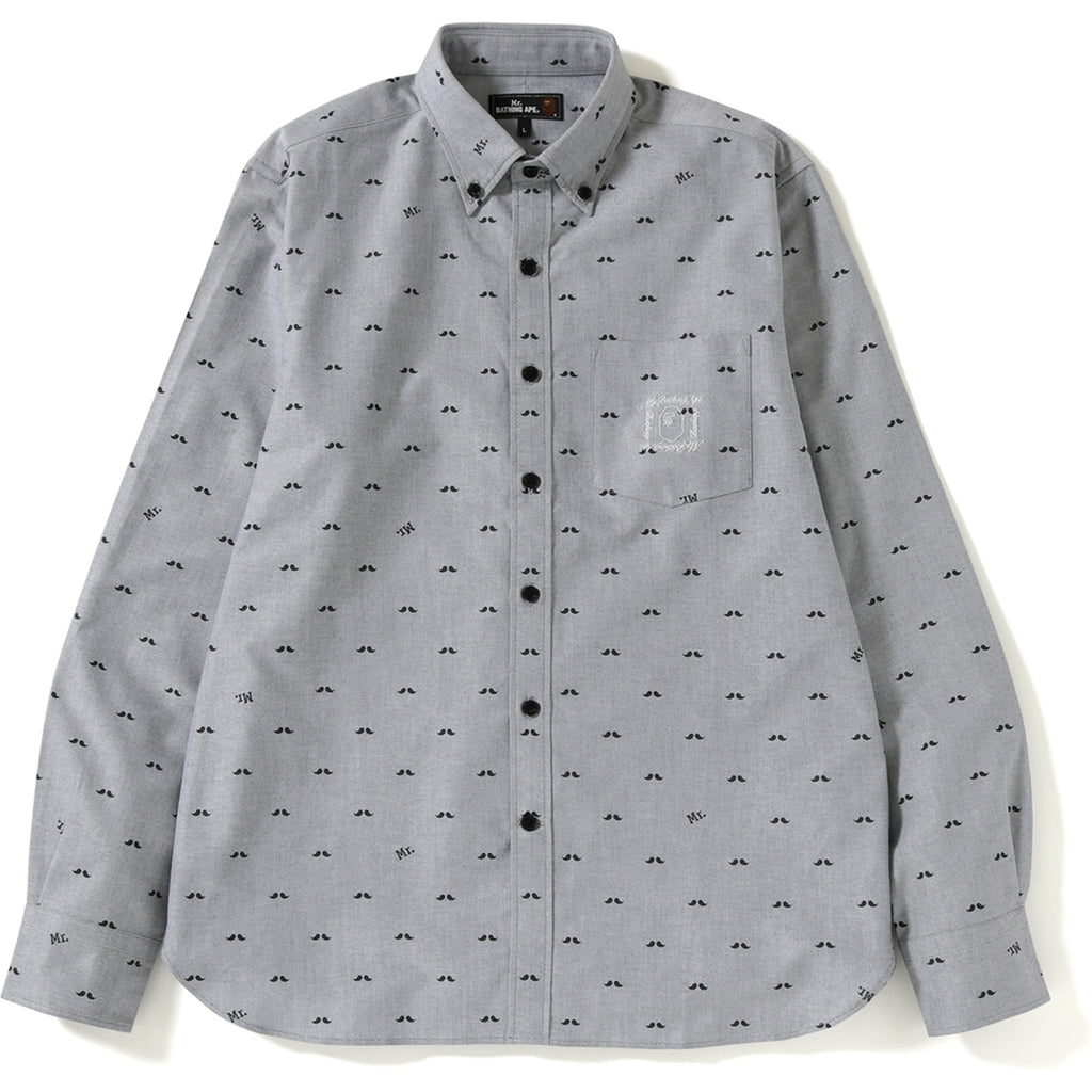 bef64134 MR PATTERN OXFORD BD SHIRT MENS | us.bape.com