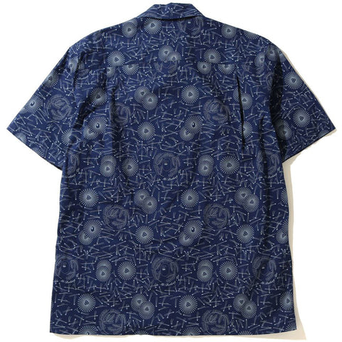 MR PATTERN OPEN COLLAR S/S SHIRT MENS