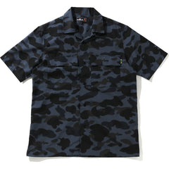 MR CAMO OPEN COLLAR S/S SHIRT MENS