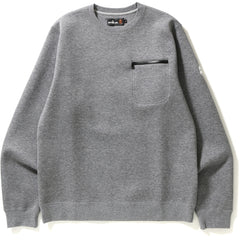 DOUBLE KNIT POCKET CREWNECK MENS