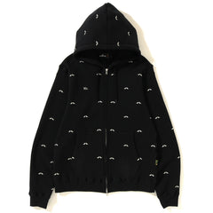 MR PATTERN EMBROIDERY ZIP HOODIE MENS