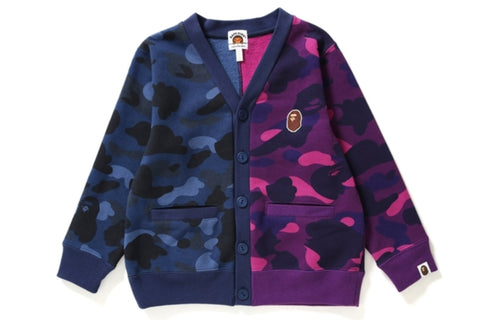 COLOR CAMO HALF SWEAT CARDIGAN KIDS