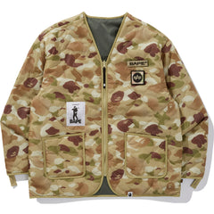BAPE X ALPHA REVERSIBLE INNER JACKET MENS
