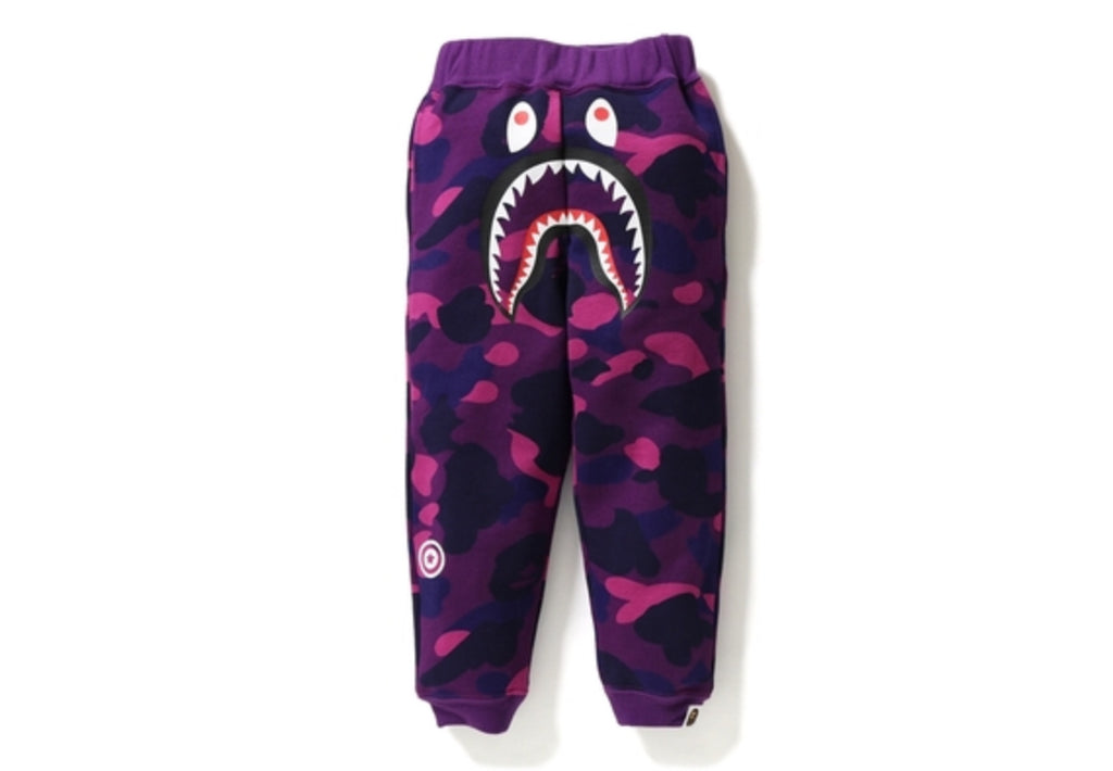 COLOR CAMO SHARK SLIM SWEAT PANTS KIDS