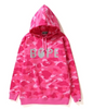 COLOR CAMO OVERSIZED PULLOVER HOODIE LADIES