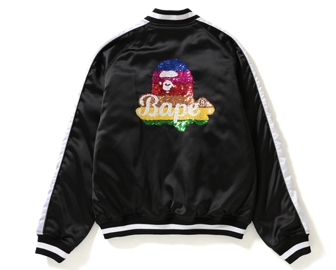 RAINBOW APE HEAD SOUVENIR JACKET LADIES