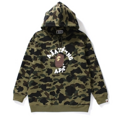 1ST CAMO OVERSIZED PULLOVER HOODIE L