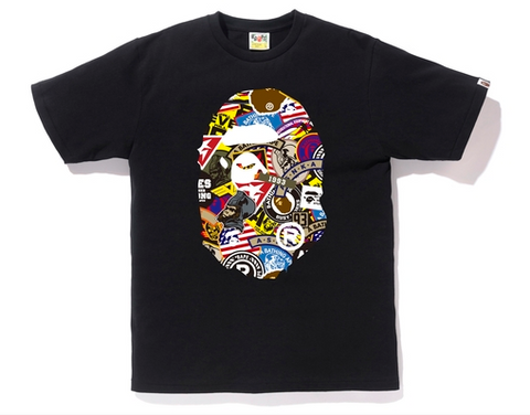 PATCHED BIG APE HEAD TEE MENS