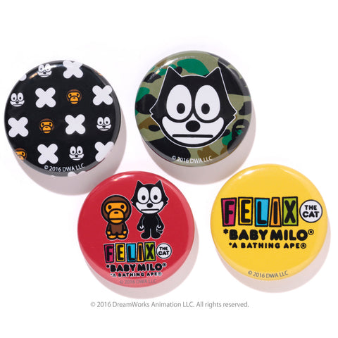 FELIX THE CAT BADGES SET