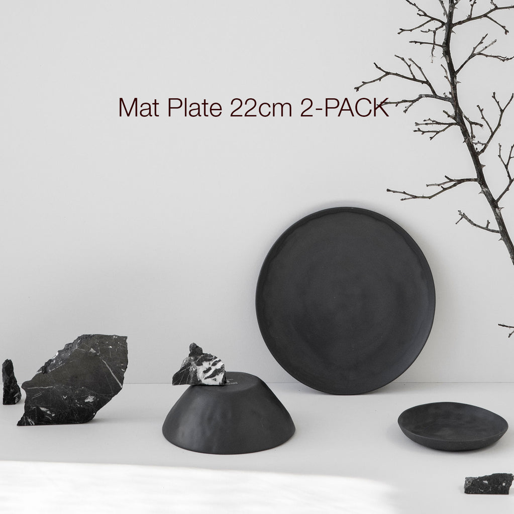 Mat Plate 22cm 2-PACK, all colors - Kajsa Cramer
