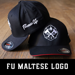 Fireman Up Maltese Logo Hat