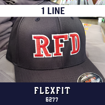 1 Line Custom Hat - Flexfit