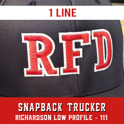 1 Line Custom Hat - Snapback Trucker Low Profile
