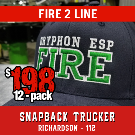 Fire 2 Line Custom Hat - 12 Pack Snapback Trucker
