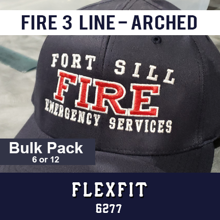 Fire 3 Line Custom Hat Arched - Bulk Pack - Flexfit