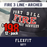 Fire 3 Line Custom Hat Arched - 12 Pack Flexfit