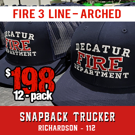 Fire 3 Line Custom Hat Arched - 12 pack Snapback Trucker