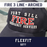 Fire 3 Line Arched Custom Hat - Flexfit