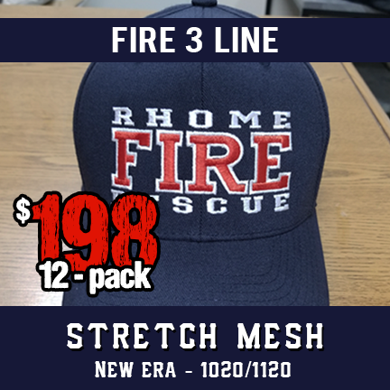 Fire 3 Line Custom Hat - 12 Pack New Era Stretch