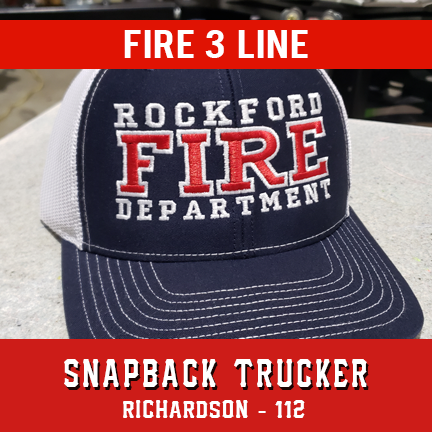 Fire 3 Line Custom Hat - Snapback Trucker