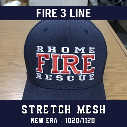 Fire 3 Line Custom Hat - New Era Stretch