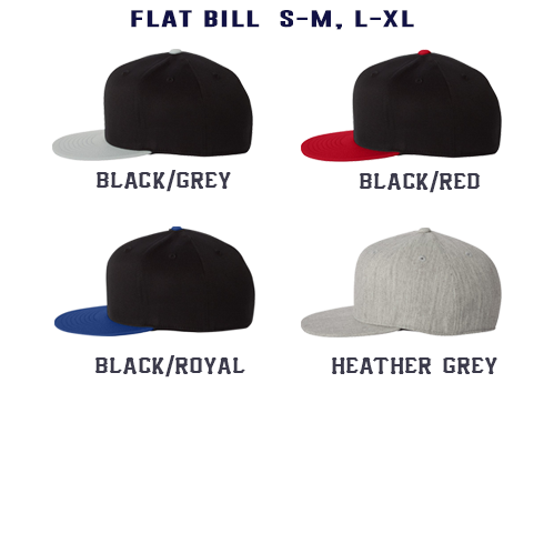 Apparatus with Number Custom Hat - Flatbill Flexfit