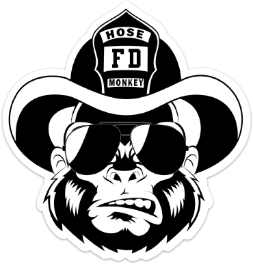 "Hose Monkey 4"" Sticker"