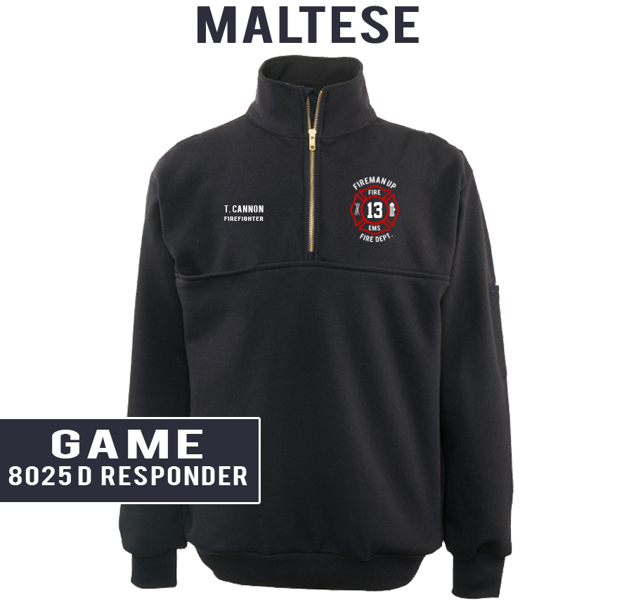 Custom Maltese - Game 8025 Responder Job Shirt