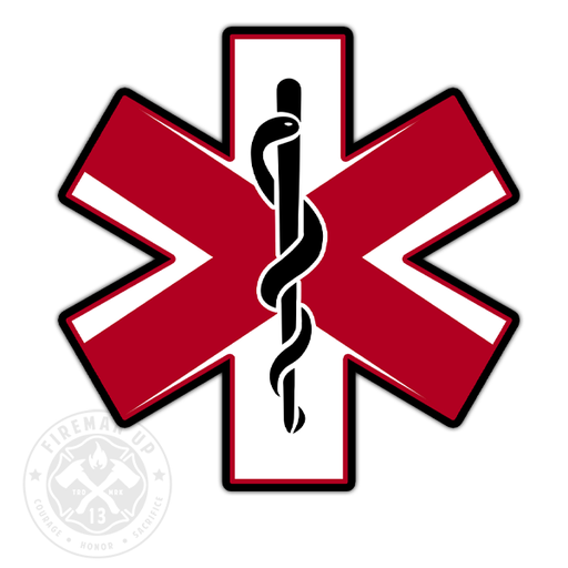 "Alabama Flag EMS Star of Life - 4"" Sticker"