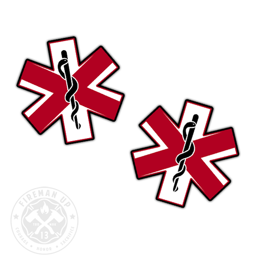 "Alabama Flag EMS Star of Life - 2"" Sticker Pack"