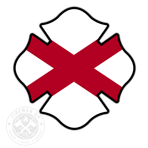 "Alabama Flag Fire Maltese - 4"" Sticker"