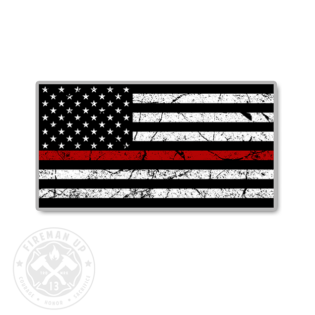 Thin Red Line USA Flag Tattered - 4