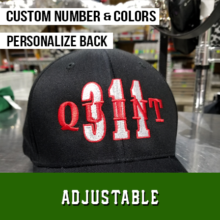 Quint Number Outlined Custom Hat - Adjustable