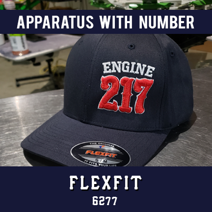 Apparatus with Number Custom Hat - Flexfit